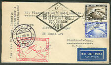 Germany, 1931, Dox flight cover franked w/4mk + 2mk Zeppelin stamps, Vf, pretty
