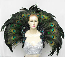 EVIA Samba Burlesque Cabaret Dancer Peacock Feather Backpack