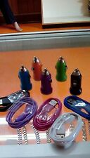 10 lot car adapter + micro usb  charger cable data sync