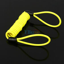 Yellow Motorcycle Motorbike Alarm Security Disc Lock Reminder Coil Cable 1.2m