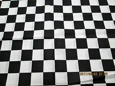 "CHECKERED FLAG FABRIC 100% COTTON 1 YARD  36"" X 44 "" NEW FABRIC"