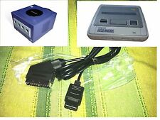 SUPER NINTENDO PAL CAVO SCART RGB SNES VIDEO GAMECUBE AV TV CABLE STEREO SOUND