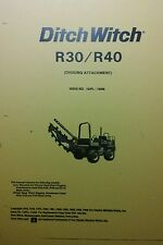 Ditch Witch R30 & R40 Operator/Parts Manual Digging Trenching Attachment 66pg