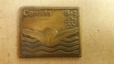 1976 Montreal Olympics  Bronze Stamp, Swimming, Canada Post, No Box