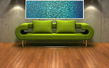 "Print  dreaming fish australia painting canvas aboriginal art 36"" x12"""