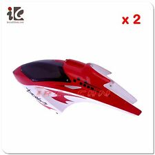 2X Head Cover / Canopy JTS 822 822A Aero-Power 3.5CH RC Helicopter Parts 822-01