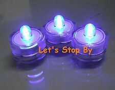 12 Purple LED SUBMERSIBLE Wedding Waterproof  Floralytes Decoration Tea Light