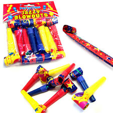 8 x JAZZY BLOWOUTS NOISY TOY BOYS GIRLS STAG HEN FUN BIRTHDAY PARTY BAG FILLERS