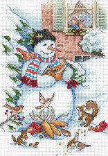 Cross Stitch Kit ~ Gold Collection Smiling Snowman and Friends Animals #8801