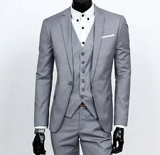 Men's Slim Fit Groom Tuxedo Notch Lapel Best Man Groom Wedding Suits Custom Made