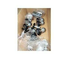 Pack of 8 Replacement Shower Door Rollers with Two x Button Chrome Handles