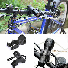 360°CYCLING LIGHT FRONT TORCH FLASHLIGHT MOUNT BRACKET HOLDER FOR BIKE BICYCLE