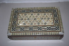 HANDMADE MOTHER-OF-PEARL JEWELRY BOX FROM EGYPT rectangle #1