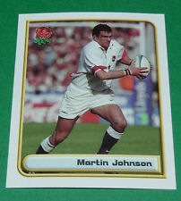 N°87 MARTIN JOHNSON ENGLAND MERLIN IRB RUGBY WORLD CUP 1999 PANINI COUPE MONDE