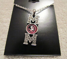 FLORIDA STATE SEMINOLES MOM 16 iNCH NCAA Necklace Rhinestone Jewelry  New