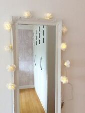 IVORY VINTAGE ROSE BATTERY OPERATED LED FAIRY LIGHTS ARTIFICIAL ROSE GARLAND