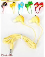10 pcs/lot cartoon animal shaped earphone earbud for computer, cellphone, mp3/4
