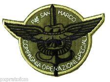 Patch Rgt San Marco Cp Operazioni Speciali Verde Toppa per Mimetica Vegetata Mil