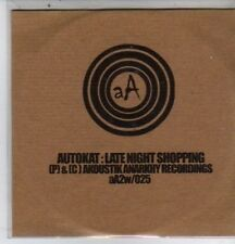 (DE604) Autokat, Late Night Shopping - DJ CD