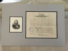 *RARE* President Ulysses S. Grant signed Presidential Appointment - 10/30/1875