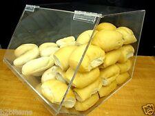 """Acrylic 16""""w Bulk Bread Storage Display case Bakery Pastry Cookies Bagel CUPCAKE"""