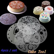 4X Cake Stencils Birthday Printing Mold Decorating Wedding Party Pastry Tools