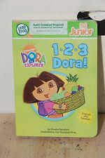 123 Dora the Explorer Board Book Hardback Tag Junior Leap Frog Book