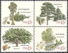 EE. UU. 1978 Roble/Abedul/Pino/Sequoia/Árboles/Plantas/conservación de la naturaleza/4v Negro (n42211)