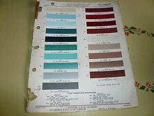 1961 Chrysler & Imperial Ditzler Color Chip Paint Sample - Vintage
