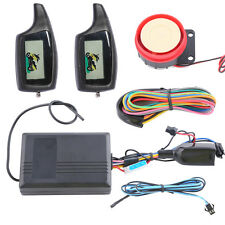 Economic universal LCD 2 way motorcycle alarm with remote engine start starter