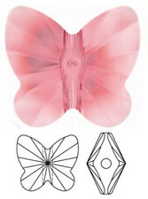 ONE SWAROVSKI CRYSTAL BUTTERFLY BEAD / PENDANT 5754, ROSE PEACH, 10  MM