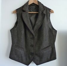Laura Ashley Brown Wool Mix Gilet/Waistcoat, Size 18, Hardly Worn!