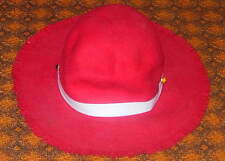 VINTAGE RED FELT COWBOY OR WESTERN HAT  CHILD'S WITH PLASTIC JEWEL BAND