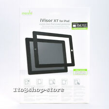 Moshi iVisor AG Hard Crystal Clear Sceen Protector XT for iPad 2/3/4 (Black) NEW