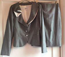 Armani Collezioni Gray Blazer Skirt Suit Size 10