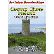 COUNTY CLARE IRELAND CYCLING SCENERY BIKE DVD JOGGING EXERCISE FITNESS VIDEO