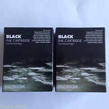 2 x Black Inks LC900 For Brother MFC-5440CN,MFC-5840CN