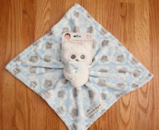 Blankets & Beyond Baby Boy Plush Security Blanket ~ Owls ~ Blue, White & Gray ~