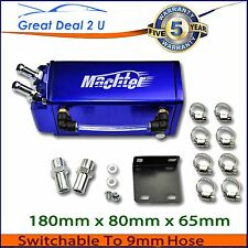UNIVERSAL BILLET ENGINE OIL CATCH CAN 1L SQUARE G-STYLE RESERVOIR BREATHER TANK