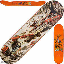 "CREATURE ""Strait to Hell"" Gravette Skateboard Deck 8.26"" x 32"" Park Hot Rod Cars"