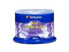 50PK Verbatim DVD+R DL Dual Double Layer 8.5GB 8X Logo Disc 97000 with Cake Box