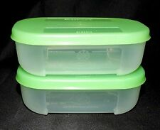 Tupperware 2-pc Freezer Mates Green  4 Ounce Set