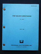 THE BLUES BROTHERS - ORIGINAL SCREENPLAY of DAN ACKROYD, JOHN BELUSHI Film
