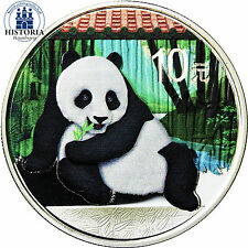 "La Chine 10 yuan argent 2015 stgl. ""grand panda en couleur"" colored Edition"