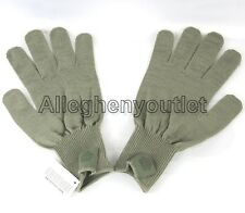 USGI Military ACU FOLIAGE GREEN FIELD LW WOOL GLOVES D3A LINERS MED LARGE NEW