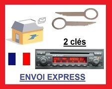 2 Llaves de Extracción façade autoradio audi concert 2 trous a3 a4 a6