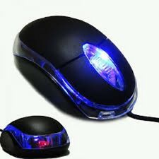 NEW Wired USB Optical Scroll Wheel LED Mouse For PC Computer Laptop Notebook