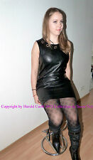 Kx29 abito ECO PELLE SINTETICA NERO MIS. S giurisprudenza strong FAUX LEATHER DRESS