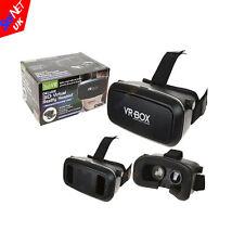 DELUXE 3D VR Box Virtual Reality Glasses Goggles Headset Removable Front NEW
