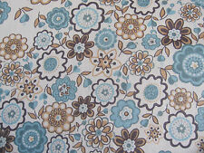 LIBERTY TANA LAWN COTTON  2.00 MTRS of LAUREN in BLUE/BROWN